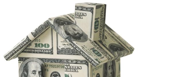 Haus aus Dollar-Scheinen