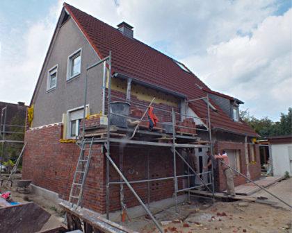 Sanierung Einfamilienhaus mit Klinkern