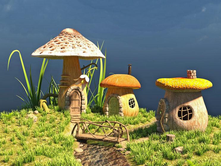 Märchenhäuser in Pilzen