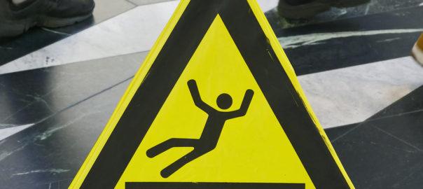 Warnschild als Symbolbild »Rutschgefahr«