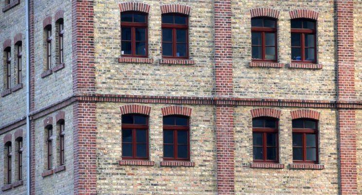 strukturierte Ziegelfassade