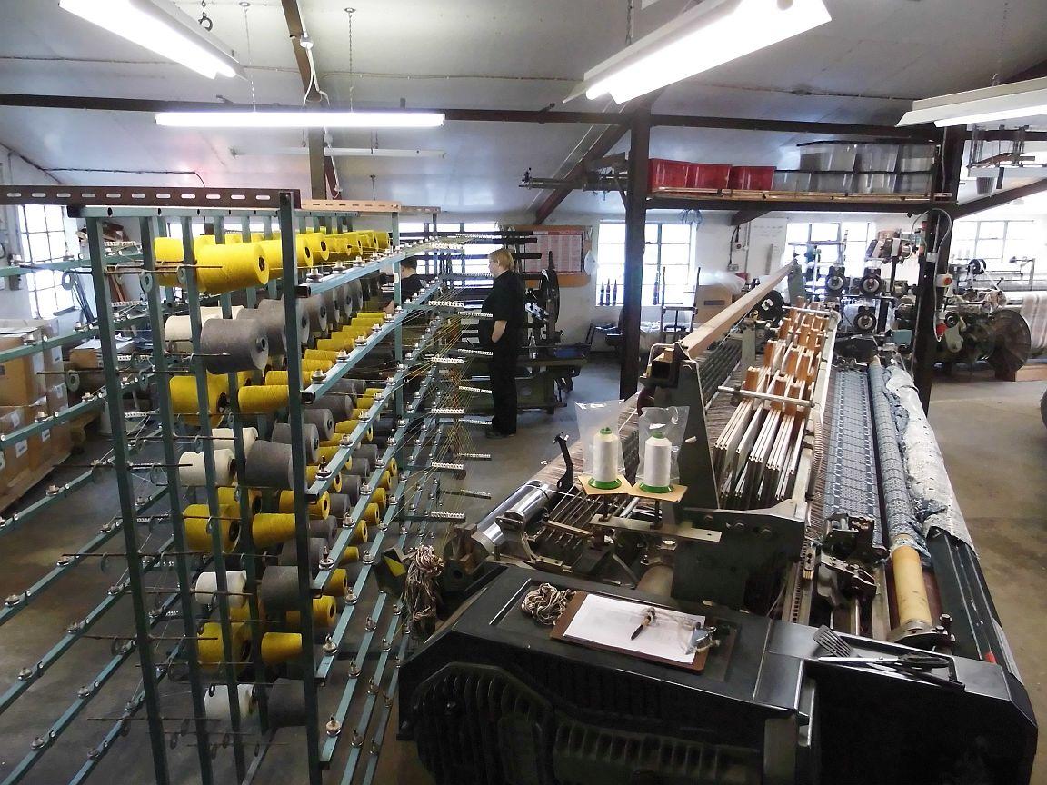 Webmaschine in Werkstatt