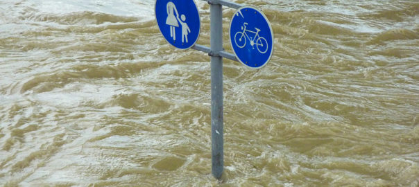 Hochwasser: Symbolbild für Klimaschutz